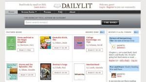 DailyLit incorpora libros con copyright legibles con cuota de pago