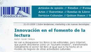 Propuestas de innovación para el sector del libro (por Javier Celaya)