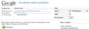 Google Insights, nueva herramienta para bloggers, desarrolladores y curiosos de la web en general