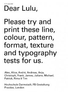 Dear Lulu: un experimento que pone a prueba la impresión bajo demanda