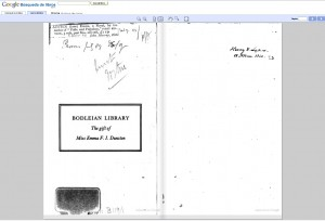 Los fondos del s. XIX de la Biblioteca Bodleiana de Oxford, disponibles en Google Búsqueda de Libros