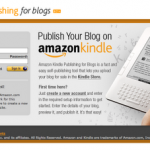 publish your blog in kindle