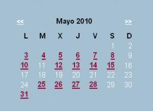 Agenda editorial de mayo – semana 1