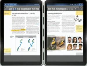 Kno, una nueva tablet con pantalla dual para los libros de texto