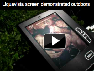 Liquavista presenta una demo de pantallas a color que se pueden leer a plena luz del día