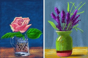 David Hockney expone en París obras digitales en iPhone y iPad