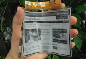 LG anuncia la comercialización de una pantalla de papel electrónico flexible