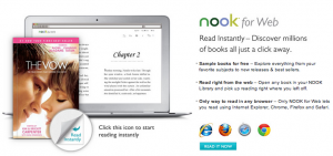 Barnes & Noble lanza Nook for Web, una plataforma de lectura a través del navegador
