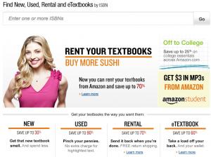 Amazon lanza un servicio de alquiler de libros de texto