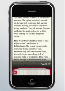 Grandes editoriales norteamericanas ofrecen libros electrónicos adaptados al iPhone