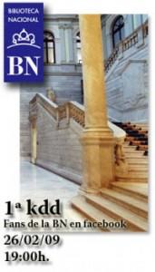 La Biblioteca Nacional organiza una kdd en Facebook