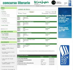 La librería de El Corte Inglés lanza un concurso literario on line con Bookandyou.com