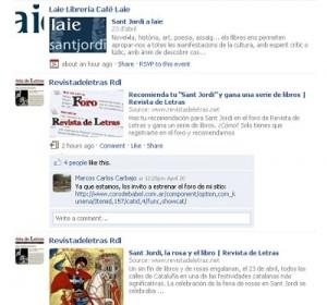 Sant Jordi 2009 o el Día del libro en Facebook