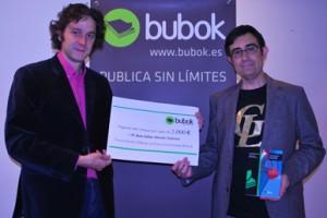 Entrega del 1er premio Bubok de creación literaria