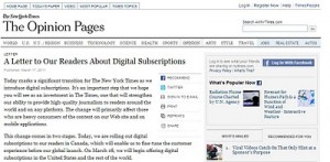 <em>The New York Times</em> adopta el modelo de suscripción para sus versiones digitales