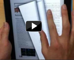 Prototipo de interfaz para pasar las páginas de un libro digital