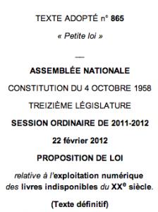 El gobierno francés aprueba una ley que le permite digitalizar y explotar títulos no disponibles del siglo XX