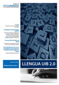 Llengua UIB 2.0, el boletín del Servei Lingüístic de la Universitat de les Illes Balears