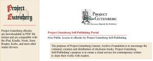 El Proyecto Gutenberg lanza un portal de autoedición