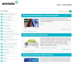 Nace Miríada X, plataforma para impartir cursos gratuitos en español