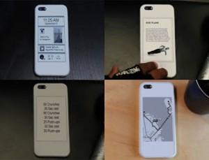 Teléfonos inteligentes con dos pantallas: LCD y tinta electrónica