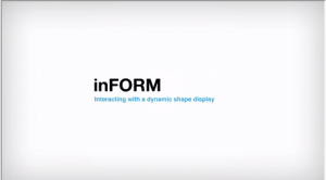 InFORM, un proyecto experimental que genera formas físicas en 3D a partir de una pantalla